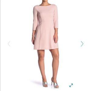 Vince Camuto Pink A-Line Crepe Dress